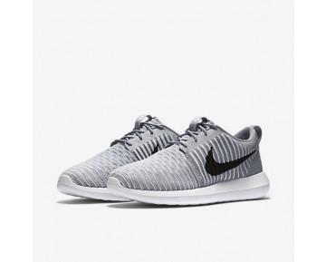 Chaussure Nike Roshe Two Flyknit Pour Homme Lifestyle Gris Loup/Blanc/Bleu Gamma/Noir_NO. 844833-002