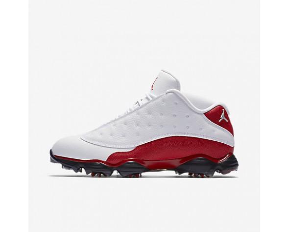 Chaussure Nike Air Jordan 13 Pour Homme Golf Blanc/Rouge Université/Blanc/Rouge Université_NO. 917719-101