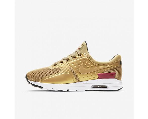 Chaussure Nike Air Max Zero Pour Femme Lifestyle Or Métallique/Blanc/Noir/Rouge Intense_NO. 863700-700