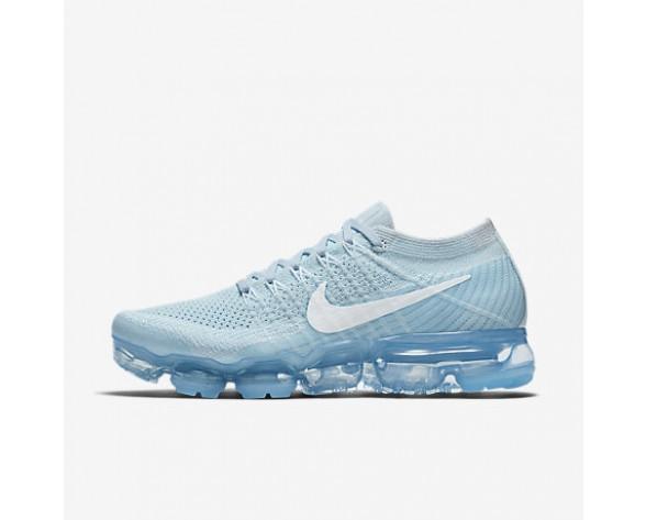 pretty nice b2914 7436e Chaussure Nike Air Vapormax Flyknit Pour Femme Running Bleu Glacier Platine  Pur Blanc NO. 849557-404