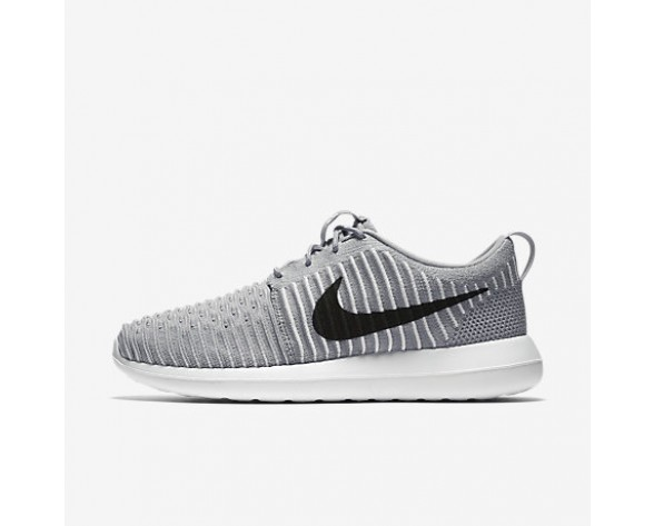 size 40 4c09c e8517 Chaussure Nike Roshe Two Flyknit Pour Homme Lifestyle Gris Loup Blanc Bleu  Gamma Noir NO. 844833-002