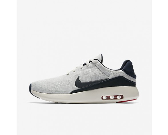 Chaussure Nike Air Max Modern Flyknit Pour Homme Lifestyle Voile/Platine Pur/Rouge Université/Obsidienne_NO. 876066-100