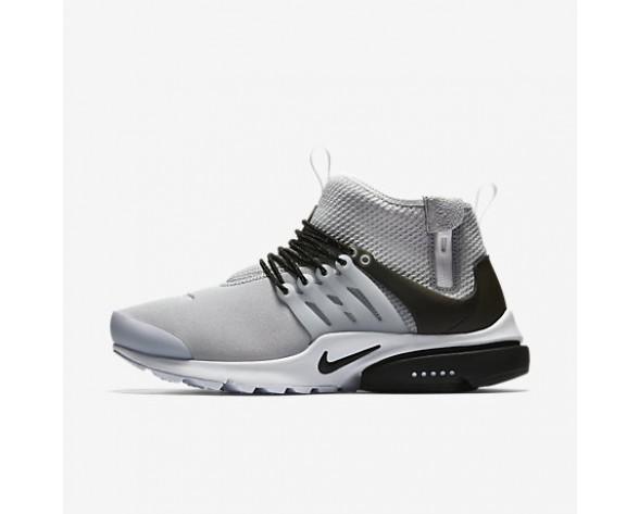 Chaussure Nike Air Presto Mid Utility Pour Homme Lifestyle Gris Loup/Blanc/Noir_NO. 859524-005