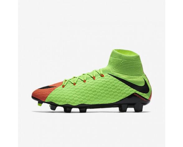 Chaussure Nike Hypervenom Phatal 3 Df Fg Pour Homme Football Vert Électrique/Hyper Orange/Volt/Noir_NO. 852554-308