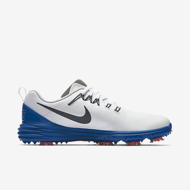 new product 3ee0c 49656 Chaussure NIKE LUNAR COMMAND 2 CHAUSSURE DE GOLF POUR HOMME Blanc Bleu  geai Rouge. Prix normal   120,00 €