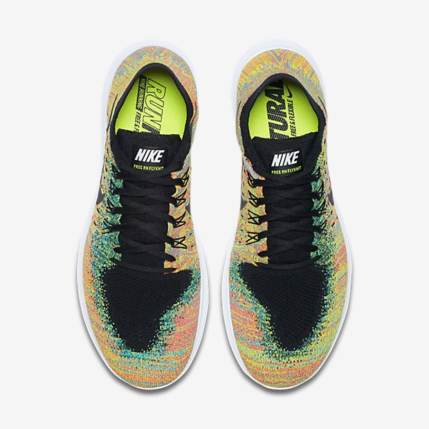 online store 4af1f fdb46 Chaussure Nike Free Rn Flyknit Flyknit Flyknit 2017 Pour Homme Running  Multicolore 7cf0e6