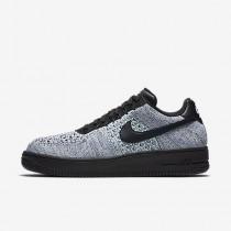 Chaussure Nike Air Force 1 Flyknit Low Pour Homme Lifestyle Bleu Glacier/Blanc/Bleu Royal Profond/Noir_NO. 817419-401