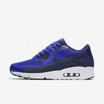 buy popular fcb31 10aae Chaussure Nike Air Max 90 Ultra 2.0 Essential Pour Homme Lifestyle Bleu  Souverain Blanc