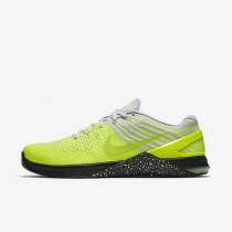 Chaussure Nike Metcon Dsx Flyknit Pour Homme Fitness Et Training Volt/Platine Pur/Noir/Vert Ombre_NO. 852930-701