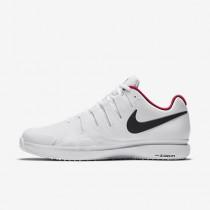 Chaussure Nike Court Zoom Vapor 9.5 Tour Grass Pour Homme Tennis Blanc/Rouge Sirène/Gris Foncé Métallique_NO. 649084-106