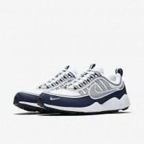 Chaussure Nike Air Zoom Spiridon Pour Homme Lifestyle Blanc/Bleu Nuit Clair/Argent_NO. 849776-103