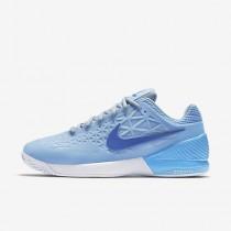 Chaussure Nike Court Zoom Cage 2 Clay Pour Homme Tennis Bleu Glacé/Noir/Blanc_NO. 844961-401