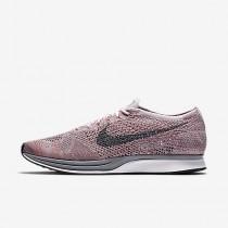 Chaussure Nike Flyknit Racer Pour Femme Lifestyle Rose Perle/Melon Brillant/Gris Loup/Gris Froid_NO. 526628-604