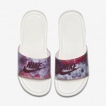 Chaussure Nike Benassi Just Do It Ultra Premium Pour Femme Lifestyle Voile/Bordeaux/Rose Prisme_NO. 818737-106