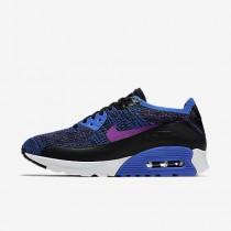 pretty nice d5f05 32ff9 Chaussure Nike Air Max 90 Ultra 2.0 Flyknit Pncl Pour Femme Lifestyle Bleu  Coureur Hyper