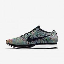 Chaussure Nike Flyknit Racer Pour Femme Running Vert Impact/Bleu Lagon/Rose Framboise/Noir_NO. 526628-304