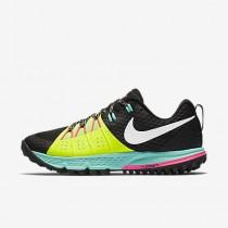 Chaussure Nike Air Zoom Wildhorse 4 Pour Femme Running Noir/Volt/Hyper Turquoise/Blanc_NO. 880566-007