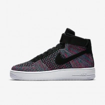 Chaussure Nike Air Force 1 Ultra Flyknit Pour Homme Lifestyle Rouge Cocktail/Bleu Rayonnant/Blanc/Noir_NO. 817420-602