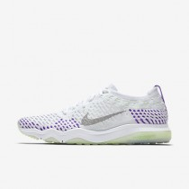 Chaussure Nike Zoom Fearless Flyknit Pour Femme Fitness Et Training Blanc/Hyper Raisin/Vert Vapeur/Gris Loup_NO. 850426-103