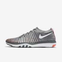Chaussure Nike Free Transform Flyknit Pour Femme Fitness Et Training Gris Froid/Cramoisi Total/Noir/Platine Pur_NO. 833410-006