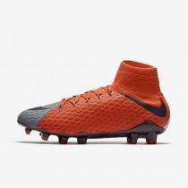 Chaussure Nike Hypervenom Phatal 3 Df Fg Pour Femme Football Gris Froid/Orange Max/Violet Dynastie_NO. 881546-058