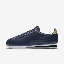 Chaussure Nike Classic Cortez Leather Se Pour Homme Lifestyle Bleu Nuit Marine/Noir/Brun Vachette/Bleu Nuit Marine_NO. 861535-400