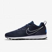 premium selection 8f030 891ca Chaussure Nike Md Runner 2 Breathe Pour Homme Lifestyle Bleu Nuit Marine  Bleu Industriel