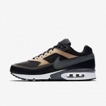 Chaussure Nike Air Max Bw Premium Pour Homme Lifestyle Noir/Brun Vachette/Blanc/Gris Foncé_NO. 819523-001