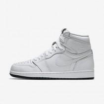 Chaussure Nike Jordan 1 Retro High Og Pour Homme Lifestyle Blanc/Blanc/Noir_NO. 555088-100