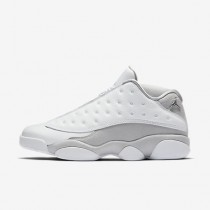 Chaussure Nike Air Jordan 13 Retro Low Pour Homme Lifestyle Blanc/Platine Pur/Argent Métallique/Argent Métallique_NO. 310810-100