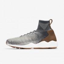 online retailer deed8 326dd Chaussure Nike Zoom Mercurial Flyknit Pour Homme Lifestyle Gris  Foncé Charbon De Bois Clair