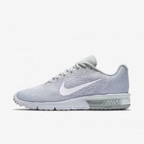 Chaussure Nike Air Max Sequent 2 Pour Homme Running Platine Pur/Gris Loup/Platine Métallisé/Blanc_NO. 852461-007