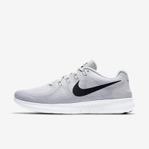 promo code 48aed 02ca5 Chaussure Nike Free Rn 2017 Pour Homme Running Blanc Platine Pur Noir NO.  880839