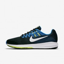 Chaussure Nike Air Zoom Structure 20 Pour Homme Running Noir/Bleu Photo/Vert Ombre/Blanc_NO. 849576-004