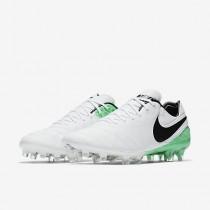 Chaussure Nike Tiempo Legend Vi Fg Pour Homme Football Blanc/Vert Electro/Noir_NO. 819177-103