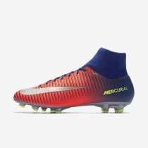 Chaussure Nike Mercurial Victory Vi Dynamic Fit Fg Pour Homme Football Bleu Royal Profond/Cramoisi Total/Zeste D'Agrumes/Chrome_NO. 903609-409