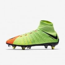 Chaussure Nike Hypervenom Phantom 3 Df Sg-Pro Anti-Clog Pour Homme Football Vert Électrique/Hyper Orange/Volt/Noir_NO. 899982-306