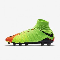 Chaussure Nike Hypervenom Phantom 3 Df Fg Pour Homme Football Vert Électrique/Hyper Orange/Volt/Noir_NO. 860643-308
