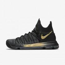 Chaussure Nike Zoom Kd 9 Elite Pour Homme Basketball Noir/Bleu Fureur/Jaune Tour_NO. 878637-007