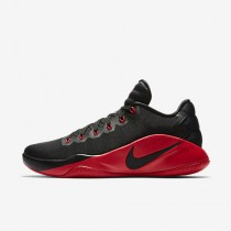 Chaussure Nike Hyperdunk 2016 Low Pour Homme Basketball Noir/Gris Foncé/Rouge Université_NO. 844363-060