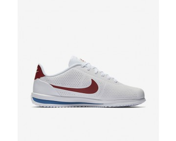 Chaussure Nike Cortez Ultra Moire Pour Homme Lifestyle Blanc/Bleu Royal/Rouge Intense_NO. 845013-100