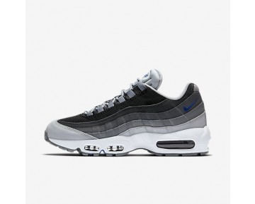 Chaussure Nike Air Max 95 Essential Pour Homme Lifestyle Gris Loup/Noir/Gris Foncé/Bleu Électrique_NO. 749766-018
