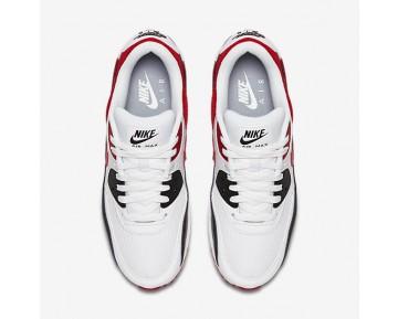 Chaussure Nike Air Max 90 Essential Pour Homme Lifestyle Blanc/Noir/Gris Loup/Rouge Université_NO. 537384-129