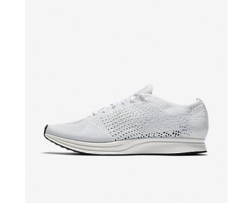 Chaussure Nike Flyknit Racer Pour Homme Lifestyle Blanc/Voile/Platine Pur/Blanc_NO. 526628-100