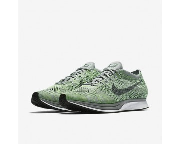 Chaussure Nike Flyknit Racer Pour Homme Lifestyle Blanc/Vert Ombre/Gris Loup/Gris Froid_NO. 526628-103