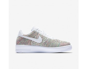 Chaussure Nike Air Force 1 Flyknit Low Pour Homme Lifestyle Jaune Strike/Cramoisi Brillant/Blanc/Blanc_NO. 817419-701