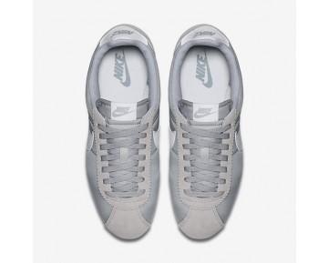 Chaussure Nike Classic Cortez Nylon Pour Homme Lifestyle Gris Loup/Blanc_NO. 807472-010