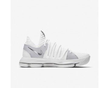 Chaussure Nike Zoom Kdx Pour Homme Basketball Blanc/Platine Pur/Chrome_NO. 897815-100