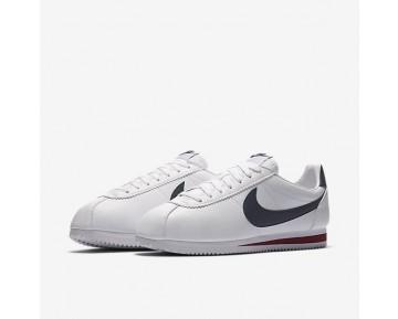 Chaussure Nike Classic Cortez Leather Pour Homme Lifestyle Blanc/Rouge Sportif/Bleu Nuit Marine_NO. 749571-146