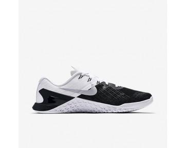 Chaussure Nike Metcon 3 Pour Homme Fitness Et Training Noir/Argent Métallique/Blanc_NO. 852928-005